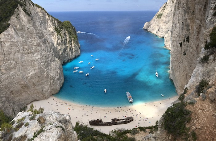 The Shipwreck (Navagio) Beach on Zakynos Island, Greece
