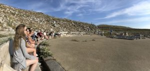 An ancient theater in Delos, Greece