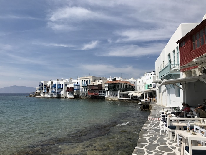 Mykonos Little Venice sidewalk bars and cafes