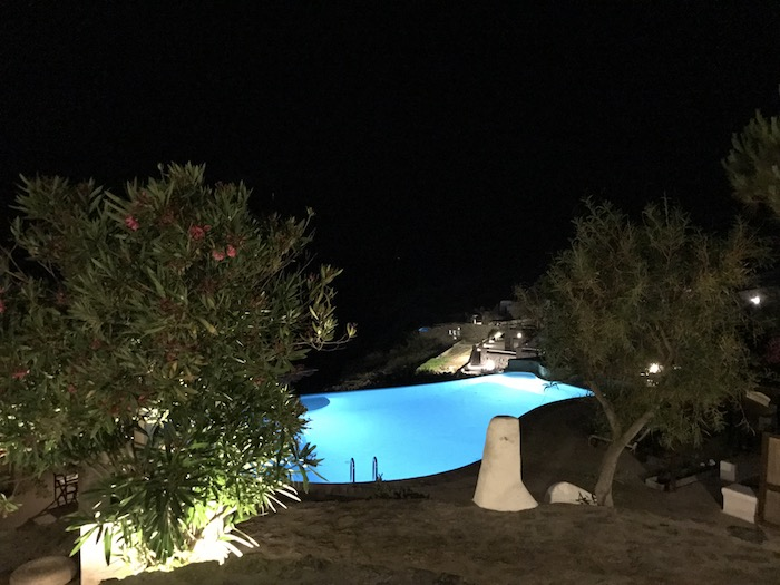 Mykonos Mystics night swim under starry sky