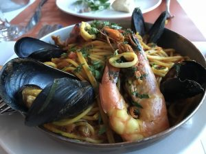 Mykonos fresh seafood pasta