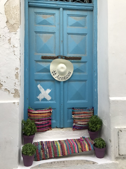 Mykonos Town colorful door