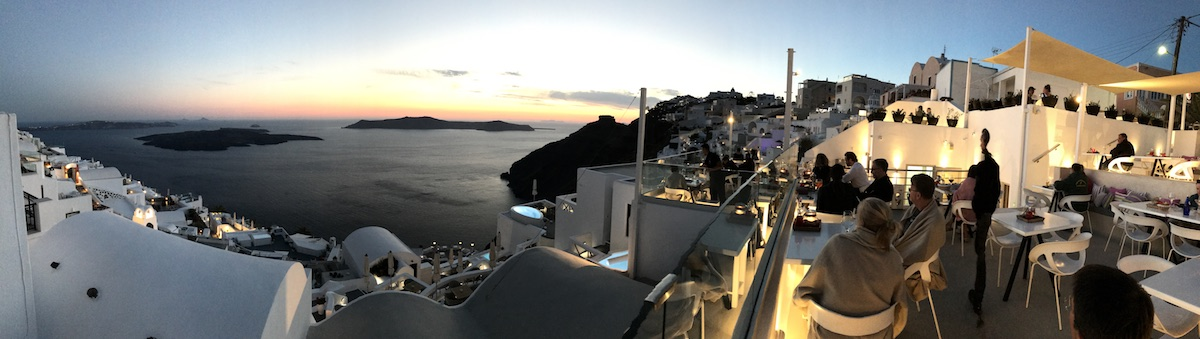 Santorini sunset from Onar Firostefani