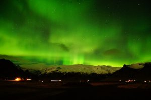 Northern Lights over Eyjafjallajokull