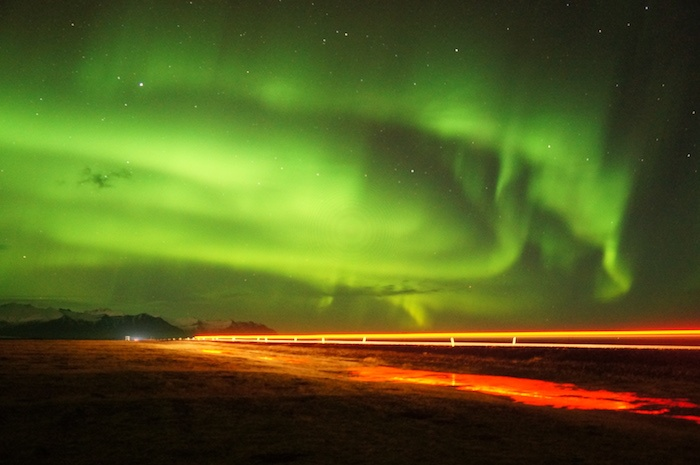 Northern Lights near Jokulsarlon