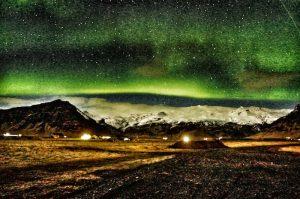 Northern Lights over Eyjafjallajokull