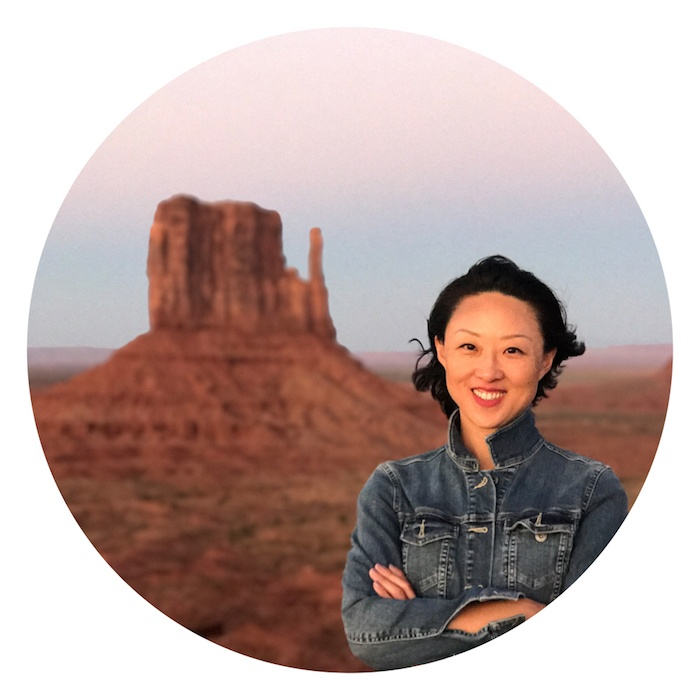 Joy Dai in Monument Valley